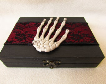 CIJ SALE Gothic Elegant Halloween Wedding Ring Pillow Alternative