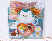 Kamio Japan Sticker Flakes - Bear Latte - 61 Pieces (46249)