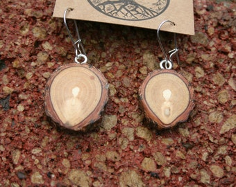 Smaller Sized   SPIRIT GUIDE Sassafras wooden Earrings