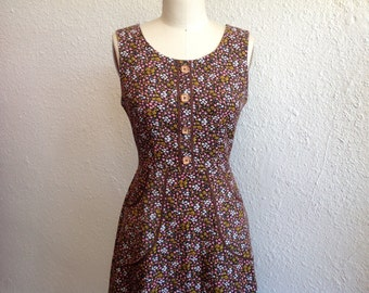 Alma printed corduroy dress Sz 6