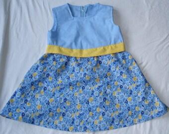 Size 6 Blue Flower Dress