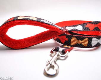 6 Foot Dog Leash Padded Handle/Matching Dog Collar /Choose your Design