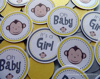 Monkey Baby Shower Decorations, Baby Shower Decorations, Baby Shower Décor, Monkey Baby Shower TABLE CONFETTI, You Choose The Colors