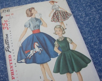 1950's girls' jumper, blouse, and skirt - Simplicity 1741