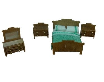 144th Inch Scale Colonial Bedroom Furniture Kit