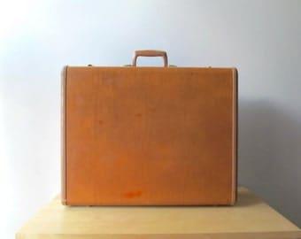 hardshell faux leather samsonite saddle tan suitcase samsonite luggage large wardrobe bag