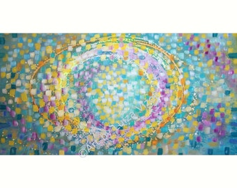 Large Abstract Painting Canvas Art, Minimalist Painting On Canvas, Acrylic Painting Wall Art. Handmade