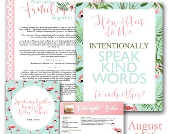 August Visiting Teaching Message Printables