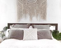 """Large 42"""" macramé wall hanging, tapestry, weaving. """"Samantha""""."""