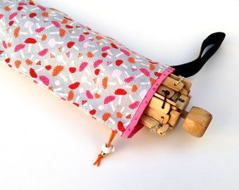 Yarn Swift Cover Yarn Winder Drawstring Padded Bag - Mushroom And Acorn Toss