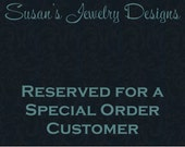 RESERVED LISTING for Liz - replacement disc for Medical Alert Wire Wrapped Pearl Bracelet already purchased - rose gold filled 1 sided disc