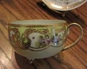 Stunning Nippon  Porcelain Tea Cup and Saucer  Vintage Antique