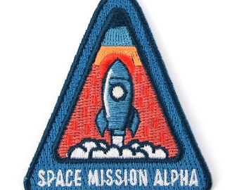 Space Mission Alpha Iron- On Patch