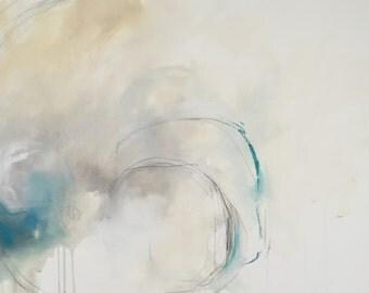 Eclipse - Abstract Art - Mixed Media on Paper - Original Art