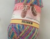 SWTC Tofutsies Sock Yarn, Self Striping Destash Wool, Fingering Soysilk Yarn