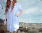 Light Blue Denim Dress Vintage 90s S M