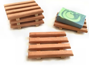 Aromatic Spanish Cedar Soap Dishes - 3x4 - NEW PRODUCT - Purchase 2, 4 or 6 dishes at one LOW introductory price