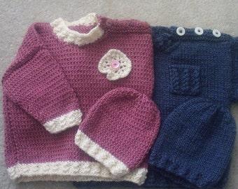 Rosaleen Baby & Toddler tunic sweater knitting pattern