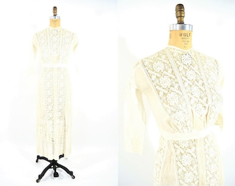 1900s dress | vintage cream lace dress | The Waldorf edwardian wedding dress | XXS