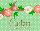 HOLD for Jill V. - Custom Pillow Cover