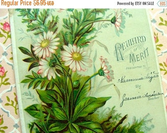 20PercentOff Antique 1800s Gorgeous Victorian Reward of Merit Trade Card N0 47