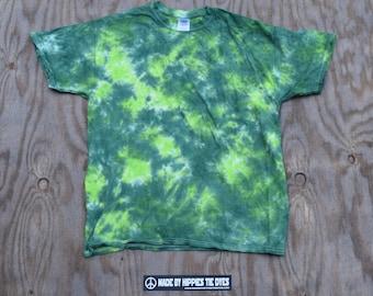 Greenscape Scrunch Tie Dye T-shirt (Gildan Heavy Cotton Size L)(One of a Kind)