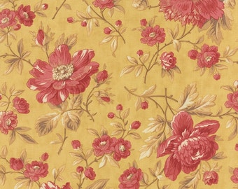 Straw Yellow Main Larkspur Fabric - 3 Sisters - Moda - 44100 12