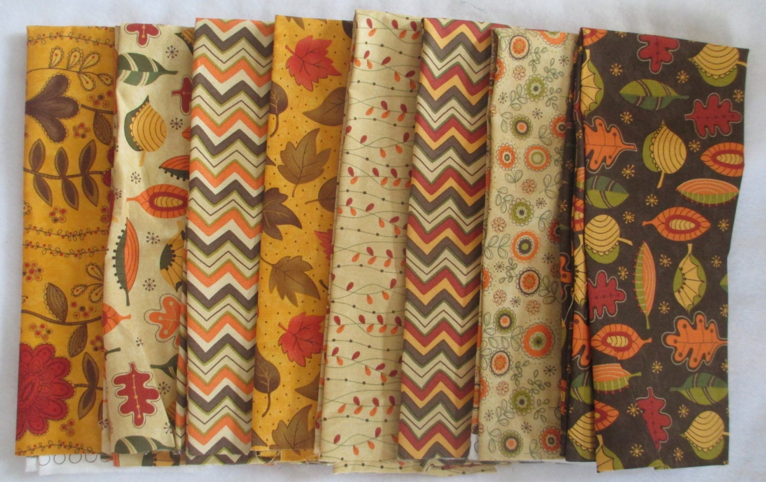 Fall Autumn Fat Quarter Fabric Bundle Moda Sandy Gervais
