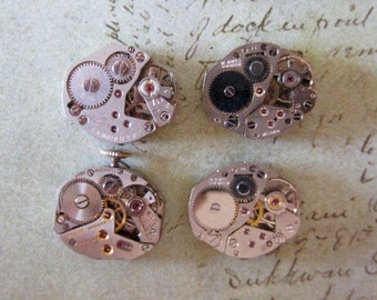Steampunk watch parts - Vintage Antique Watch movements Steampunk - Scrapbooking D77