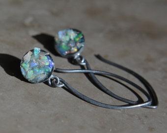 Welo Ethiopian Opal Mosaic Earrings