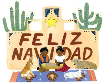 Feliz Navidad Nativity Card / Set of 8