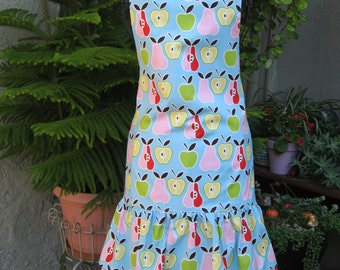 Apples and Pears Hostess Apron Vintage Style.