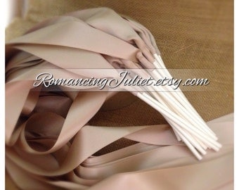 Instead of Rice Jumbo Ribbon Streamers on White Sticks..PACK OF 50...You choose the Ribbon Color..shown in champagne