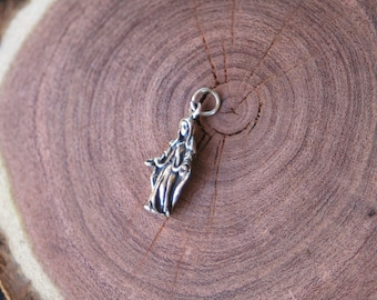 Miraculous Mother Mary Sterling Silver Charm