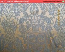 Surprise SALE - Antique Damask Fabric Peacocks Lions Renaissance Revival