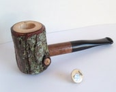 Grandpa's Pecan number Five Hundred Eighty Four a Contemporary Folk Art Tobacco Smoking Pipe