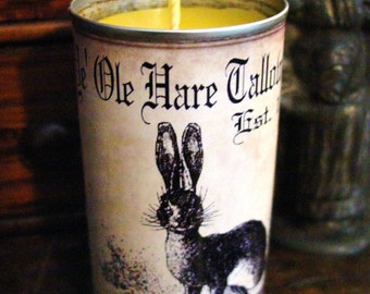 Scented Beeswax Candle Primitive Candle Primitive Rabbit Primitive Easter Candle Primitive Decor Olde Hare Tallow Candles Label Easter Decor