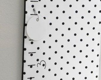 Fabric Growth Chart Ruler - Dots | Gift Ready | Family Keepsake | Inches or Cm | Ready to use | keepsake