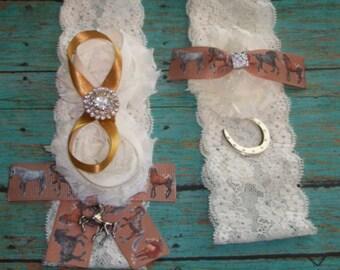 Bridal Garter,Horse Garter Set,Plus Size Garter,Lace Garter Set,Rhinestone Garter Set,Camoflauge Garter,Horse Shoe Garter,Plus Size Garter