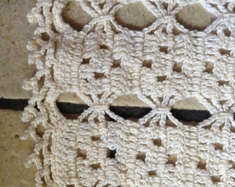 Creamy White Centerpiece Hand-Crocheted Doily