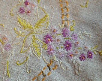 Purple Daisy Table Runner or Dresser Scarf