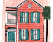 Charleston South Carolina 8.5x11in Print of Original Illustration