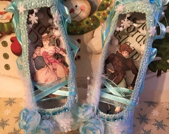 Twelve Days of Christmas Ballet Slippers