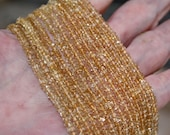 Sunny Yellow Natural Gem Citrine Faceted Small 3.2-3.3mm Rondelle beads 7 inch strand