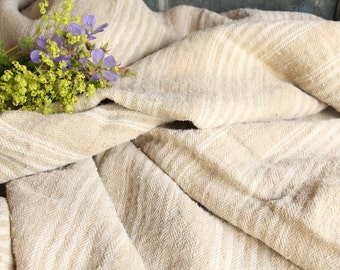 D 17 antique duvet coverlet BEDSPREAD handloomed plain COMFORTER LAUNDERED classy and soft