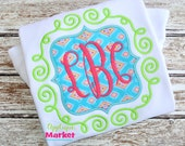 Machine Embroidery Design Embroidery Scroll Square Frame Applique INSTANT DOWNLOAD