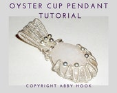 Oyster Cup Pendant, Wire Jewelry Tutorial, PDF File instant download with bonus chain tutorial