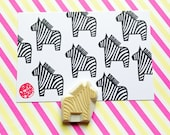 zebra rubber stamp. dala horse hand carved rubber stamp. animal stamp. diy birthday christmas scrapbooking favor bags. baby shower crafts