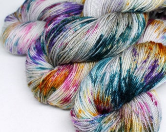 Hand Dyed Sock Yarn - Snappy Sock - Superwash Corriedale Nylon - 434 yards - Gifted