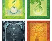 The Four Seasons - Set of Four Postcards